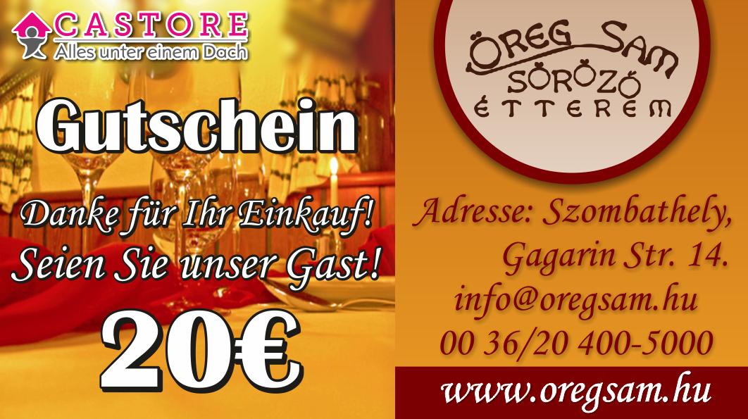 Bau Messe Österreich - Öregsam Restaurant Szombathely gutschein
